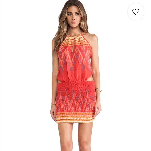 f21e4851ca4a Indah Dresses | Canoa Cut Away Mini Dress In Coral Endek | Poshmark